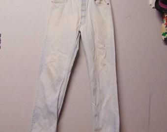 501 Levis bleached Vtg 80's Denim Jeans Waist 33 x 31  inseam