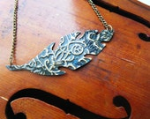 Embossed Leaf Necklace
