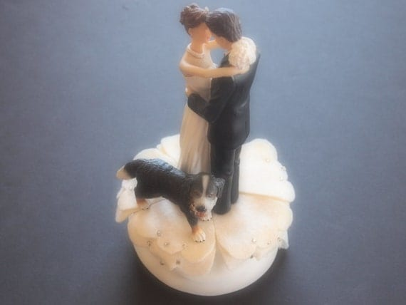 bernese mountain dog wedding cake topper cake topper wedding ivory bernese mountain and 11267