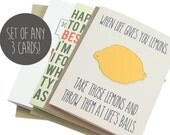 3 Card Set, Any 3 cards in shop, Mix and Match, Variety card pack