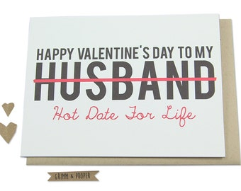 Funny Valentine's Day Card, Husband, Spouse, Partner, Hot Date, Humor, Loving, Valentine, Hot Date for Life, Love, Happy Valentine's Day