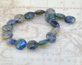 "8""  17Beads 12mm Coin Jasper  gemstone bead One strand"