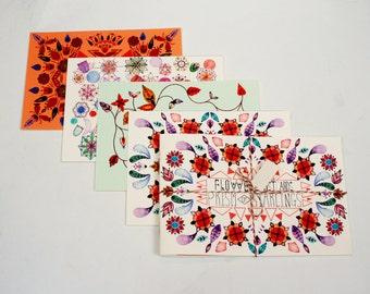 Postcard Book - Flowers