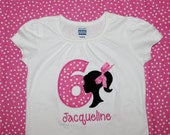 Personalized Barbie with Birthday Number Onesie or Tshirt