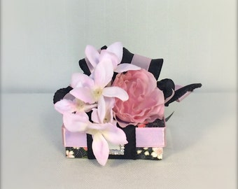Jewelry Gift Box Pink and Black Wedding Favors Box Jewelry,  Mothers Day, Christmas, Bridesmaids, Handmade, Decorative Boxes, Centerpieces