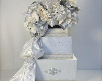 Wedding Card Box Elegant Sophisticated Wedding Card Holder Cream Wedding Card Box Card Holder, Custom Made, Unique, Secure, Elegant