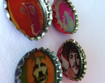 Psychedelic Beatles Magnets -- pack of 4