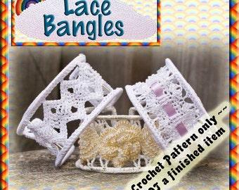 PDF Crochet Pattern Lace Bangles