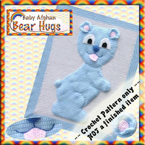PDF Crochet Pattern Bear Hugs Baby Afghan
