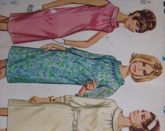Simplicity Pattern 7099 Misses' One-Piece Dress   1965   Mostly Uncut