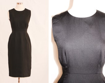 I'm a Norbyah Hand Picked - Vintage Sleeveless Tailored Black Dress