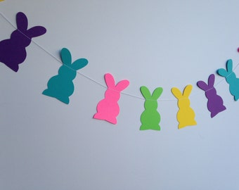 Paper Bunny Garland - Multi Color - Easter/Party/Home Decoration