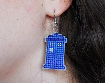Doctor Who Earrings - TARDIS