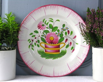 RARE 19th French Antique Faience Plate - French Farmhouse