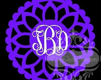 Doily Monogram Decal