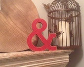 Hand-painted Wooden Letter & - Freestanding - Rockwell Font - Various sizes, finishes and colours
