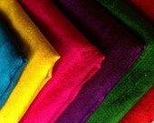 Bundle of seven fat quarters of dupioni pure silks