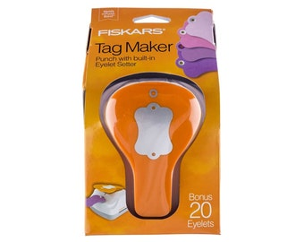 "CLEARANCE -- Fiskars ""LABEL"" Tag Maker with Built-in Eyelet Setter feature"