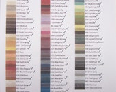 Custom Genziana Wool Thread 25 Color Bobbin Set for Wool Applique Sue Spargo Colors- All 100 Colors Available!