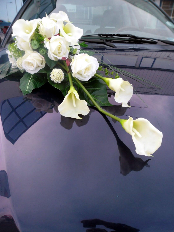 lange hochzeit auto bouquet seide calla die rosen blumen. Black Bedroom Furniture Sets. Home Design Ideas