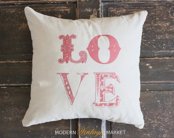 Pillow-Decorative Throw Pillow-Love Pillow-Valentines Pillow-Pillow-Linen Pillow-Pillows-Pillow Cover-Cushion-Red Pillow-Quote Pillow-Cover