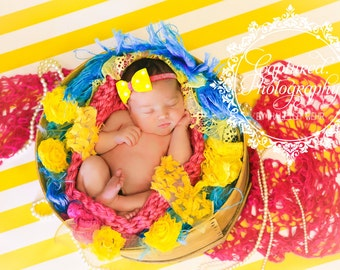Yellow Bow Headband, Infant Headband, Baby Headband, Bow Headband, Pink Glitter Headband