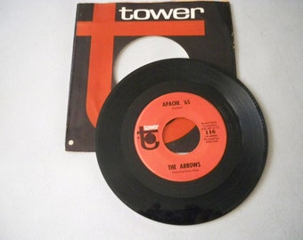 """Vintage 1960's 45 rpm Record """"Apache '65"""" by The Arrows"""