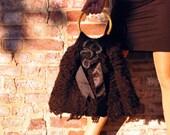 Medium Black Knitted Purse