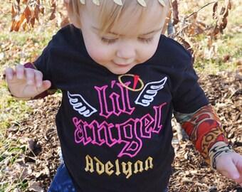 Lil Angel Tattoo Sleeve Shirt