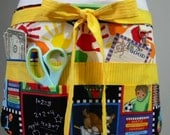 Teacher Aprons-Crafter Vendor Utility Apron-School Days