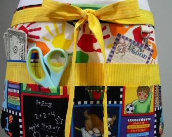 Teacher Crafter Vendor Utility Apron-School Days