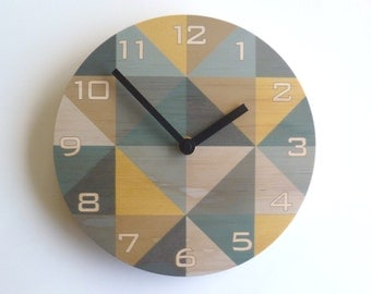 Objectify Beige Grid Wall Clock with Numerals