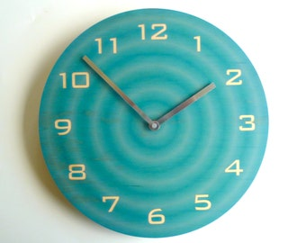 Objectify Ripple Wall Clock With Numerals - Medium Size