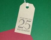 2 x Christmas Eve Gift tags