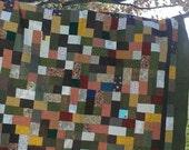 Natural Earth Scrap Quilt.