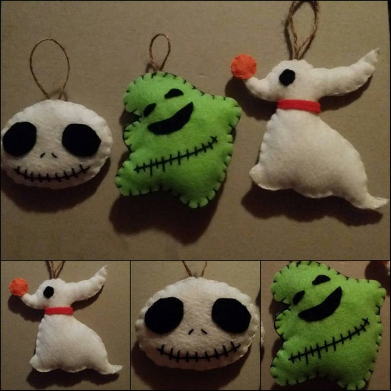 Jack Skellington Christmas Ornament: 3 Nightmare Before Christmas Ornament Set