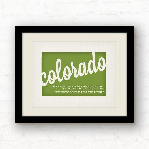 Colorado Art // Colorado Print // Rocky By PaperFinchDesign