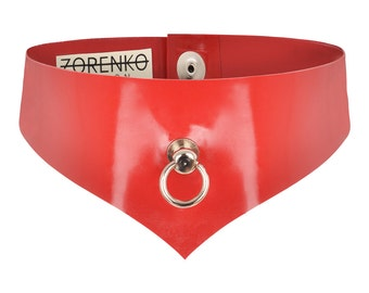 Scarlet Latex O-Ring Choker