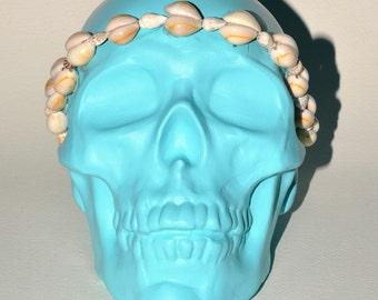 Shelly Chalkboard Ceramic Skull