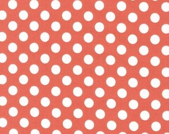 SALE - Changing Pad Cover - Spot On Coral Dots