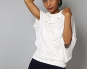 Off White Tunic / Cowl Neck Tunic / Trendy Blouse Tunic / Off White Top : Urban Chic Collection No.26