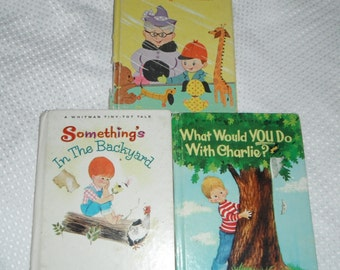 3 A Whitman Tiny Tot Tale Vintage Books The Most Wonderful Birthday Present and