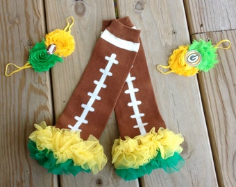 Packers Football Leg Warmers and matching headband