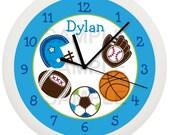 Sports Personalized Nursery Wall Clock