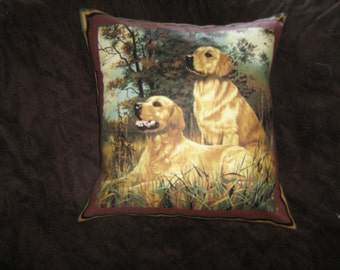 HUNTING/BIRD Dogs/ LABRADOR Retrievers Pillow Cover  Robert May artist