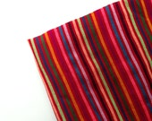 Red Mexican Fabric - Striped Cambaya - Material by the Yard - DIY Wedding Decor -