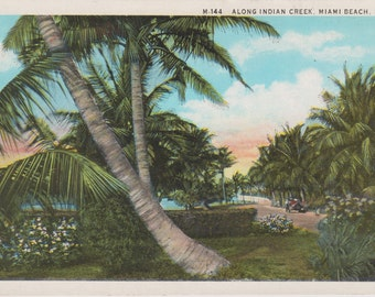 Indian Creek, Miami Beach, Florida - Vintage Postcard - Unused (CCC)
