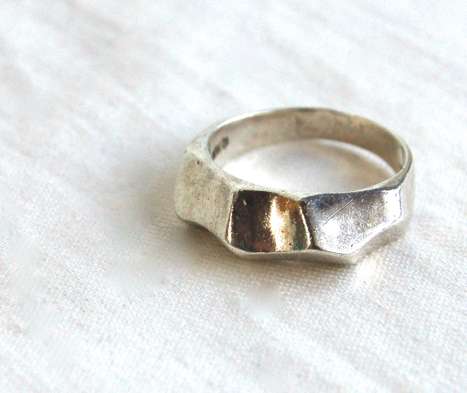 mexican sterling silver ring modernist by adobehousevintage