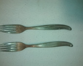Vintage TWA , Trans World Airlines ,  Fork Pair