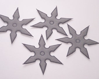 Felt Shurikens--Set of 4-- Faux Ninja Throwing Stars